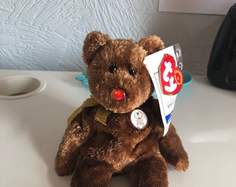 Collectible, retired – Ty beanie Fifa 2002 World Cup bear (China) perfect condition with original tag