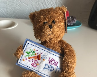 Collectible, retired – Ty beanie 'you did it' celebration bear (2002) perfect condition with original tag