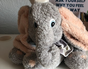 Vintage, antique effect Disney Dumbo the flying elephant plushie – no tags – rare