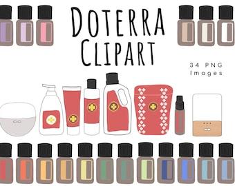 Essential Oil Clipart that correspond to Doterra essential oils.