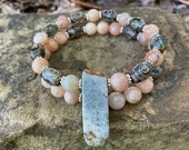 Sunstone Beaded Bracelets, Men 39 s Bracelet, Jasper Bracelet, Natural Jewelry, Gemstone Bracelet, Women 39 s Jewelry, Crystal Bracelet, Unisex