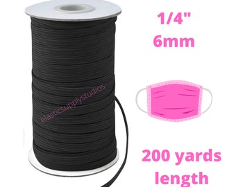 6 mm 144 Yards 1//4 Inch Saddle Brown Elastic Cord For Sewing