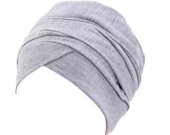 PRE-TIED HEADWRAP/ Pre-Tied Turban / Pre Tied Headwrap/ Hairscarf/ Hair Cover/ Hair Accessory/ Hair Cap/ Alopecia Cap/ Chemo Hat/ Chemo Cap