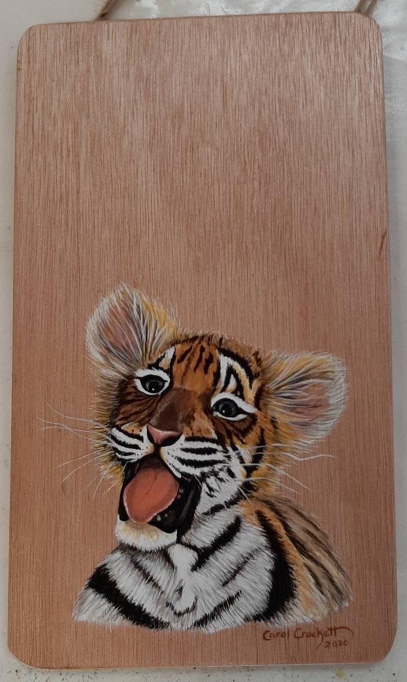 Fluffy Tiger Cub Yawning Young Tiger King