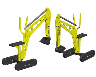 DIY Mini Metal excavator for kids - dxf files and drawing