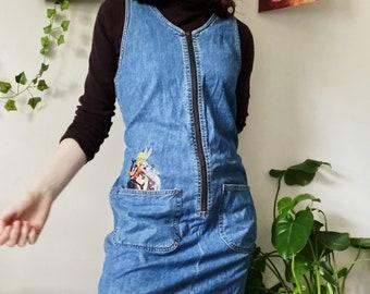 VINTAGE Looney Tunes denim apron dress