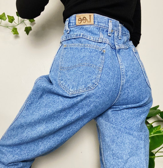 Mom jeans, high waisted mom jeans, dark wash mom j