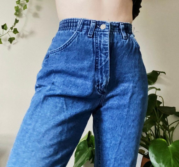 Mom jeans, vintage mom jeans, elastic mom jeans, h