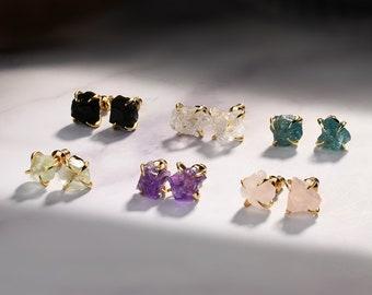 Chrystal earrings long quartz earrings,April birthstone,reflective earrings SALE wedding earrings,gold dangle studs