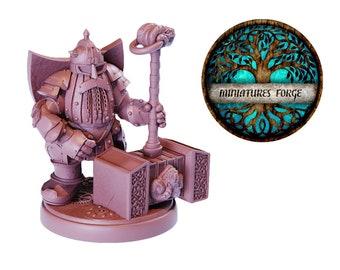 Em Steel Dwarf  miniature  - Get FREE Wooden RPG engraved BOX!  DnD miniatures   Dungeons and dragons D&D tabletop