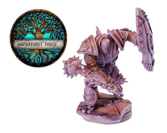 Em War-Construct Juggernaut Mace  miniature  - Get FREE Wooden RPG engraved BOX!  DnD miniatures   Dungeons and dragons D&D tabletop