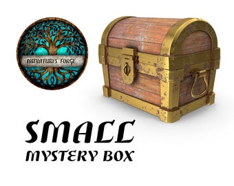 Small mystery miniature box  - Get FREE Wooden RPG engraved BOX!  DnD miniatures   Dungeons and dragons D&D tabletop