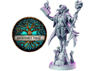 Vraduul the necromancer miniature  -  Get FREE Wooden RPG engraved BOX!  DnD miniatures   Dungeons and dragons D&D tabletop miniatures
