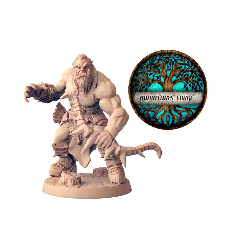 Orc archer Dungeons and dragons D/&D tabletop miniatures DnD miniatures Get FREE Wooden RPG engraved BOX