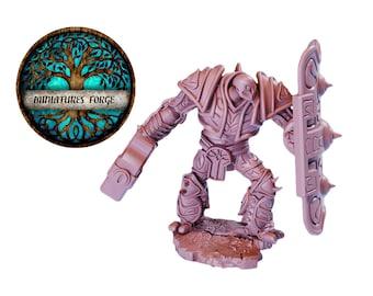 Em War-Construct Juggernaut Hammer  miniature  - Get FREE Wooden RPG engraved BOX!  DnD miniatures   Dungeons and dragons D&D tabletop