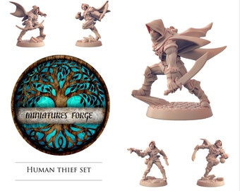 Thief set - Get FREE Wooden RPG engraved BOX!  DnD miniatures   Dungeons and dragons D&D tabletop
