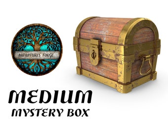 Medium mystery miniature box  - Get FREE Wooden RPG engraved BOX!  DnD miniatures   Dungeons and dragons D&D tabletop