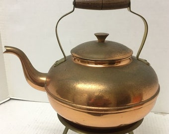 Vintage Tagus Copper Coffee Pot Made in Portugal