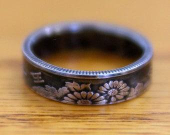 Japanese 50 Yen Coin Ring, Japanese 50 Yen, Yen Coin Ring, Japanese Ring, Japan Coins, Coin Ring, Anime Ring