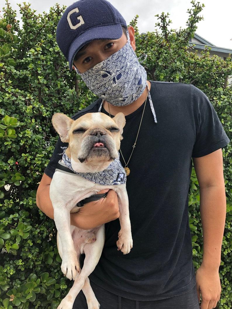 Set of 2 Face Mask with Matching Dog Bandana image 0