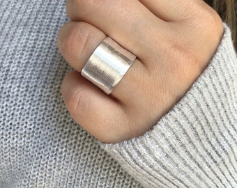 Braided ring silver jewelry adjustable ring ladies ring open ring ring for her sterling silver ring ring for women birthday gift