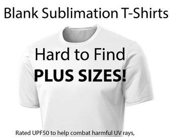 Plus Size Sublimation Blank T-shirts hard to find Plus Sizes