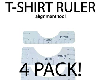 T-Shirt, Tee Shirt, Ruler, Rulers, Alignment tool, 4 Pack, Set for Transfers, Sublimation and Vinyl