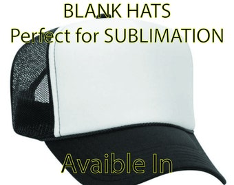 Blank, Foam, 5 Panel, Five Panel, Sublimation, Trucker Hat, Mesh, Many Colors available!