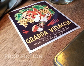 The Fifth Element - Prop Grappa Liquor / Self-Adhesive Alcohol Bottle Label