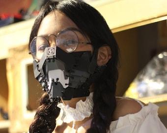 "Cyberpunk mask Design By Gins MK.5 ""SAMURAI"" Techwear mask Futuristic mask"