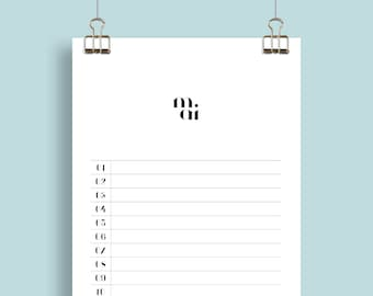 Birthday Calendar for Every Year - Simple yet Playful