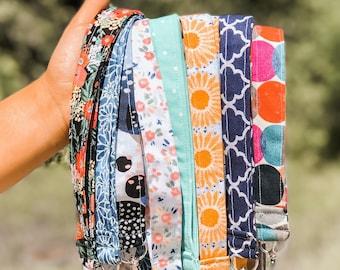 Lanyards    Fabric Lanyard    Badge ID Holder    Name Tag Lanyard    Long Keychain    Lanyard for Keys    Floral Key Holder