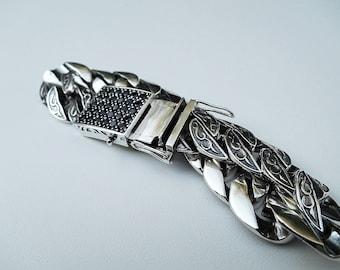 Mens sterling silver bracelet;