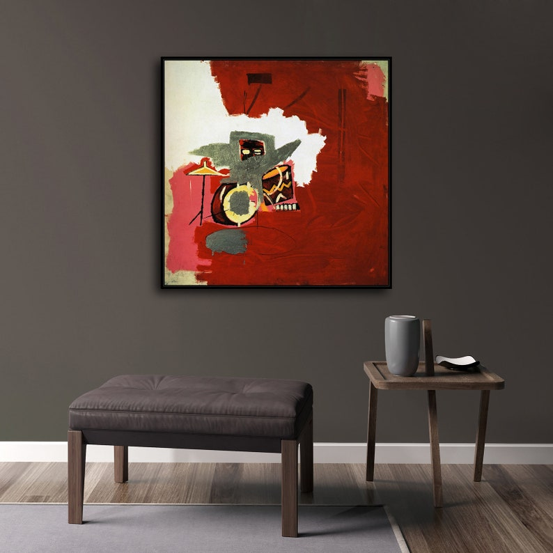 Jean-Michel Basquiat Max Roach New HD print on Canvas ready to hang large size wall Picture or Hand painted oil Painting 24x24 inches
