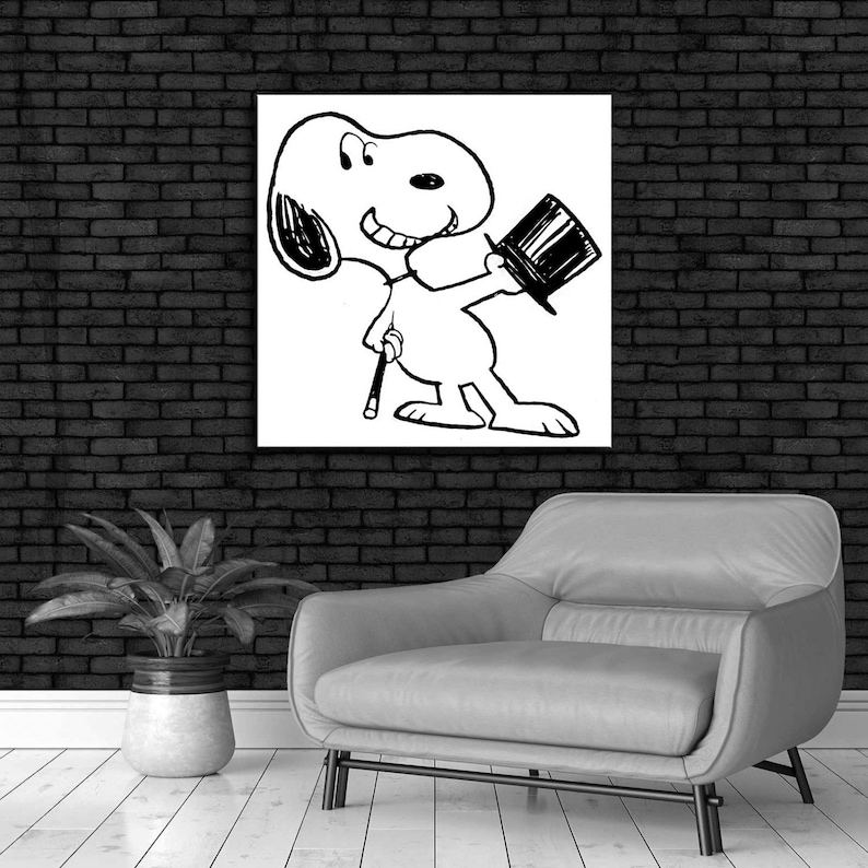 Charles Schulz Snoopy Magic Show New HD print on Canvas ready to hang large size wall Picture or Hand painted oil Painting 24x24 inches
