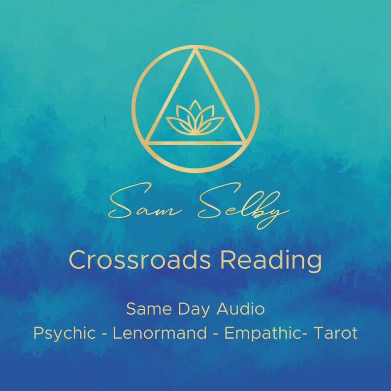 Crossroads Psychic Reading Lenormand Tarot Fast Same day image 0