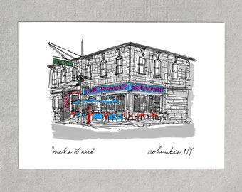 Fast Ship Seinfeld Coffee Shop Cross Stitch FULL KIT Embroidery Design Tom/'s Restaurant Classic NYC Storefront Easy pdf