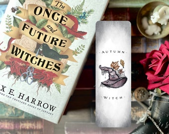 Autumn Witch Bookmark | Gothic Bookmark | Witchy | Gothic | Bookish |