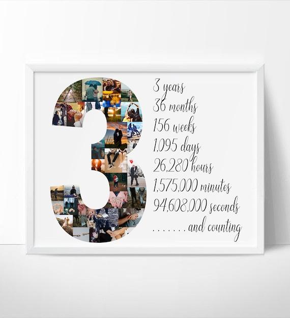 Anniversary Gift for Husband Custom Wedding Anniversary Collage 2 Year Wedding Gift Custom Second Anniversary Collage Gift