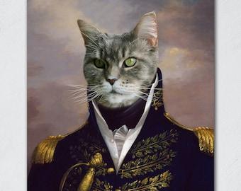 Custom Pet Portraits, Pet Portraits, Renaissance Cat Portrait, Regal Cat Portrait, Royal Cat Portrait, Custom Cat Art, Regal Cat Painting