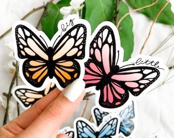 Butterfly Big Little Water Resistant Sticker, Big Little Reveal Gift, Monarch Sticker, Panhellenic Sorority Sticker for Laptop, Water Bottle