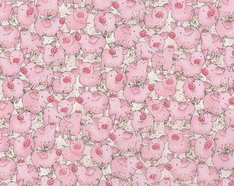 1//2 Yard X 44 Wide Great for Quilting, Sewing, Craft Projects, Throw Pillows /& More by Patty Reed Pigs Down on the Farm Cotton Fabric 1//2 Yard