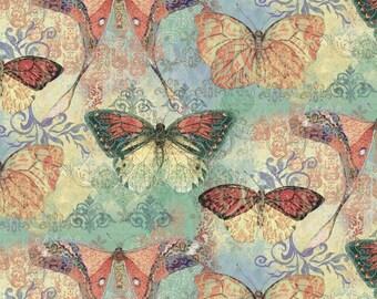 Boho Butterfly Fabric