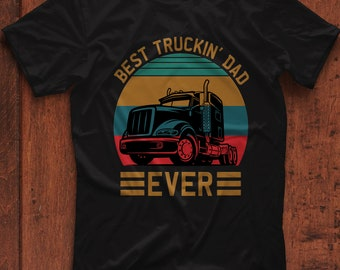 Pround to be a Truck Driver The Best Job Ever had is Being a dad Zip Hooded Sweatshirt