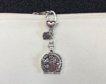 Tri Loom Weaving Project Bag Tag  Key Fob  Zipper Pull