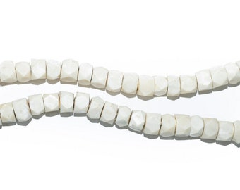 Glazed Ceramic  BONE BEADS    X 10       Hand made in Peru Crafts Gothic