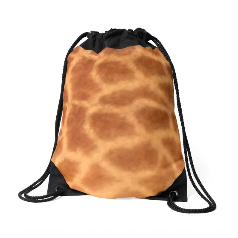 Safari Lover/'s Bag Jungle Animals Bag. Giraffe Skin Pattern Giraffe Print Drawstring Bag