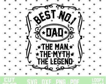 No 1 Dad Svg Etsy