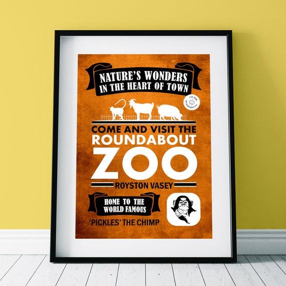 TV Comedy LEAGUE OF GENTLEMEN /'Roundabout Zoo Advert/' Poster Print Wall Art