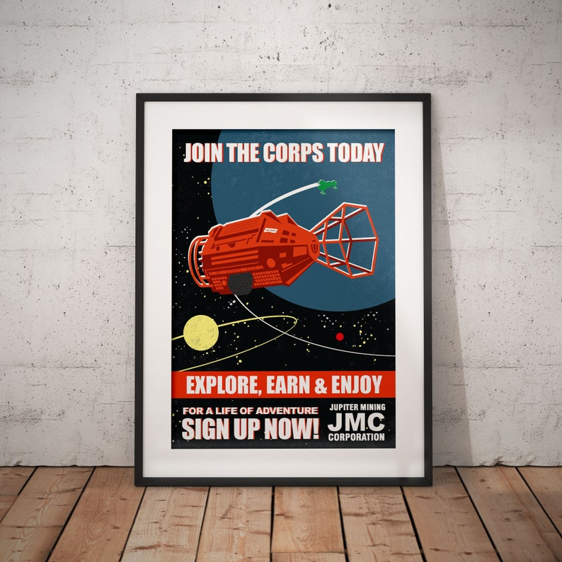TV Comedy. RED DWARF Recruitment poster /'Join The Corps Today/' Jupiter Mining Corporation Print Poster Graphic Art